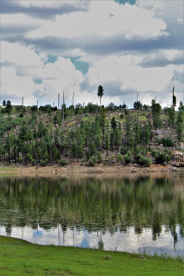 Lago preto canyon, Navajo County, o Arizona, Estados Unidos, floresta nacional de Apache Sitegreaves foto de stock
