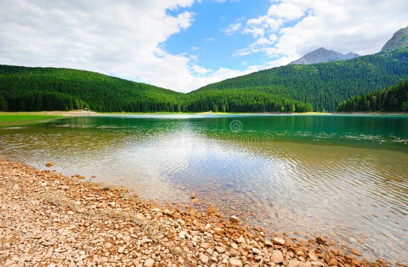 Lago preto Glacial em Durmitor imagem de stock royalty free