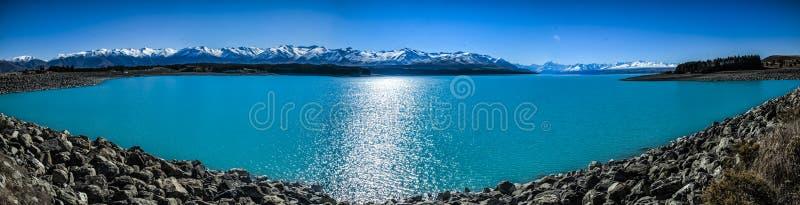 Lago Pukaki fotografia stock