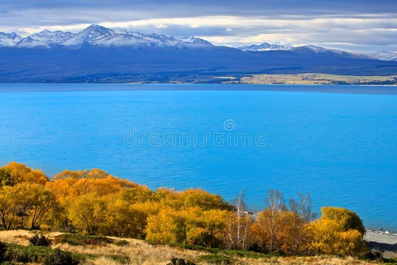 Lago Pukaki, isla del sur Nueva Zelanda imágenes de archivo libres de regalías
