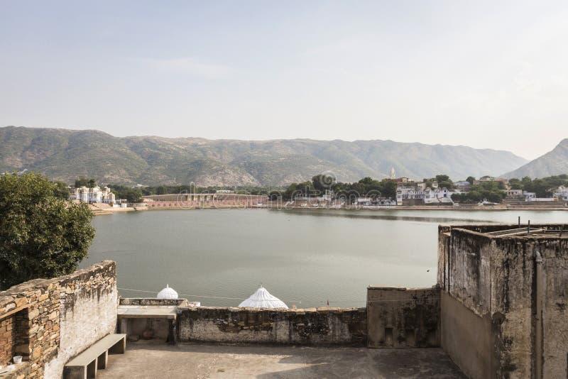 Lago Pushkar en día foto de archivo