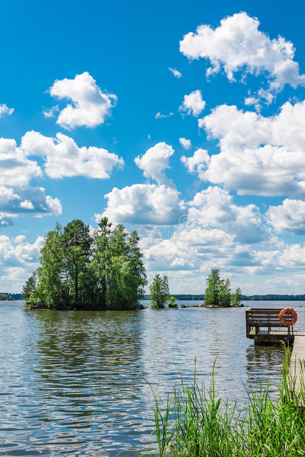Lago Pyhajarvi in Finlandia immagini stock