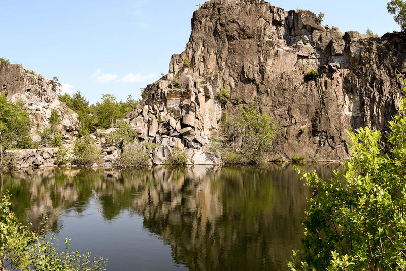 Lago quarry fotografia stock libera da diritti