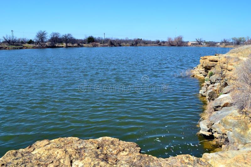 Lago quarry, parque estadual de Richardon do forte foto de stock