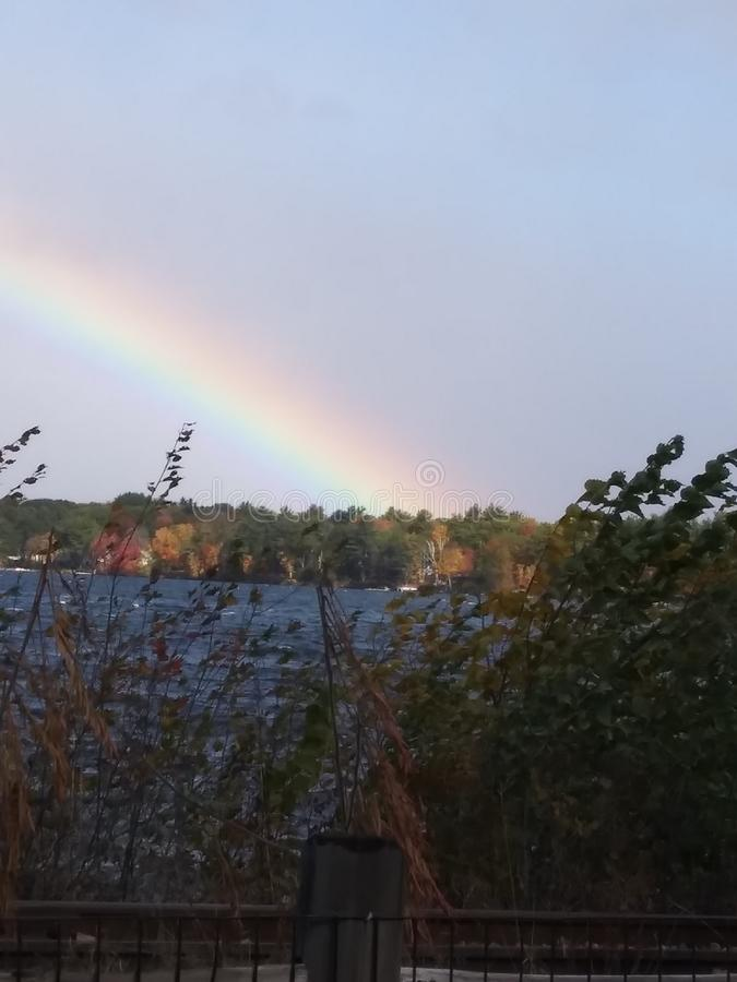 Lago Rainbow Winnesquam imágenes de archivo libres de regalías