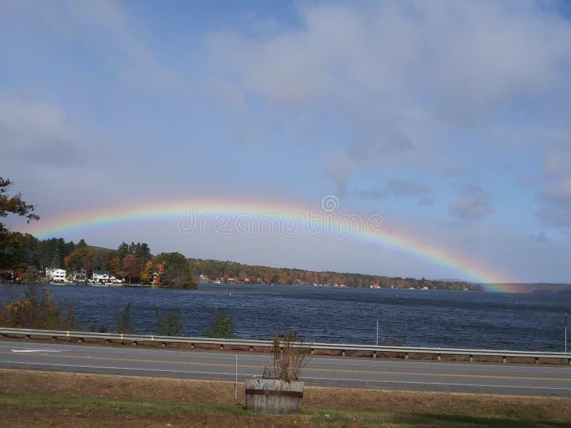 Lago Rainbow Winnesquam fotos de archivo