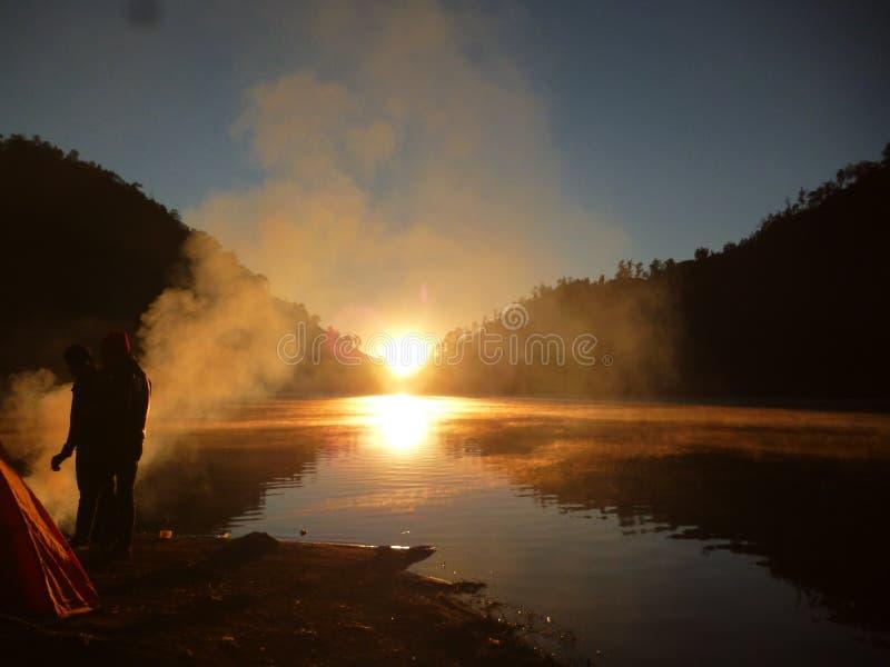 Lago Ranukumbolo fotografía de archivo