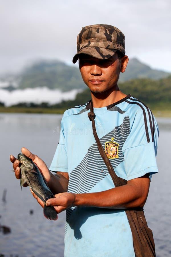 Lago Rhi, Myanmar (Burma) imagens de stock