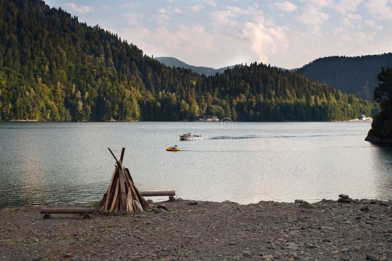 Lago Ritza foto de archivo