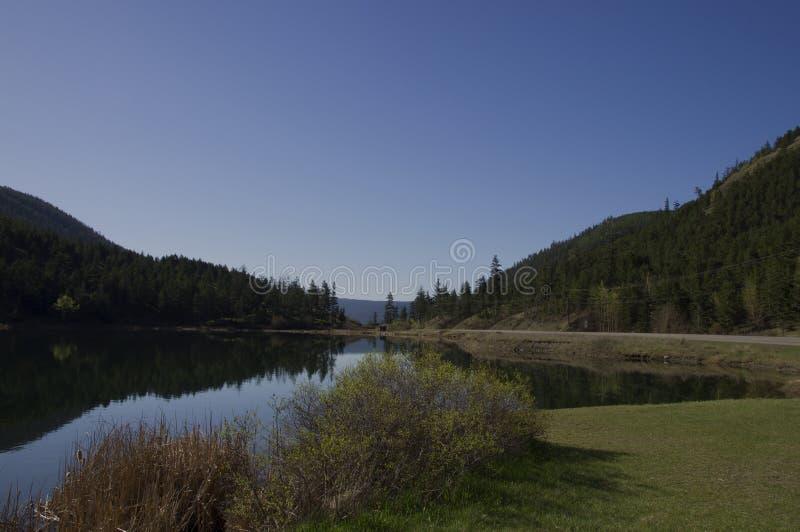 Lago roadside fotografía de archivo