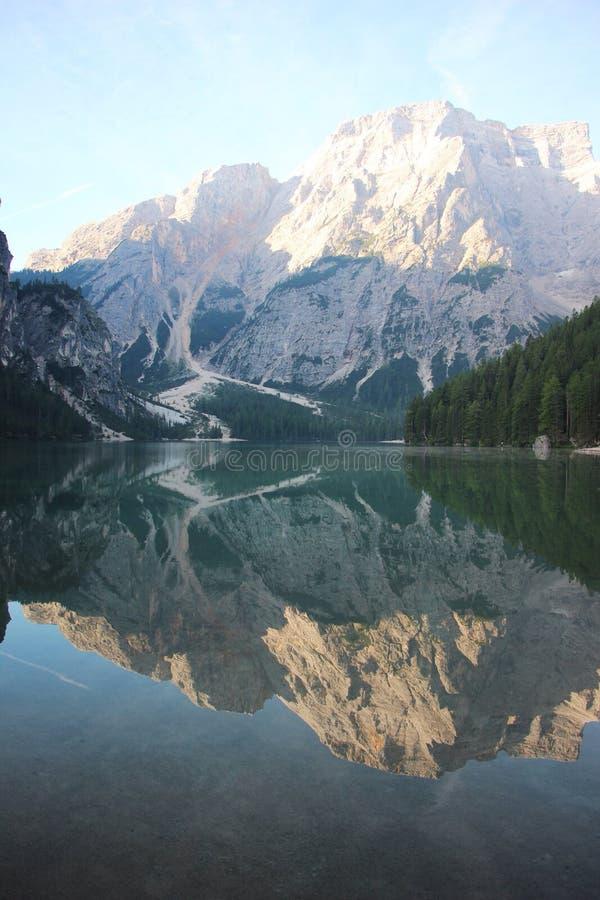 Lago robi Braies zdjęcie royalty free