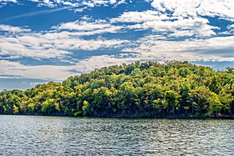 Lago rock da tabela missouri fotografia de stock