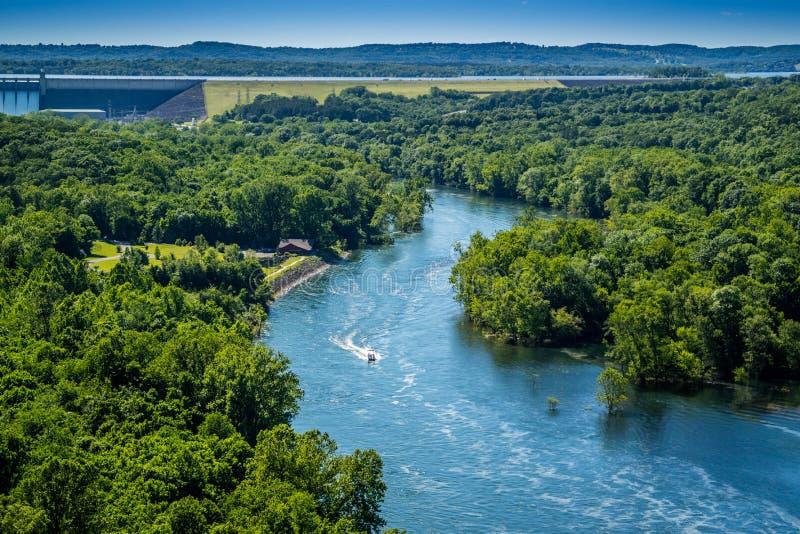 Lago rock de la tabla en Branson en el sudoeste Missouri foto de archivo libre de regalías