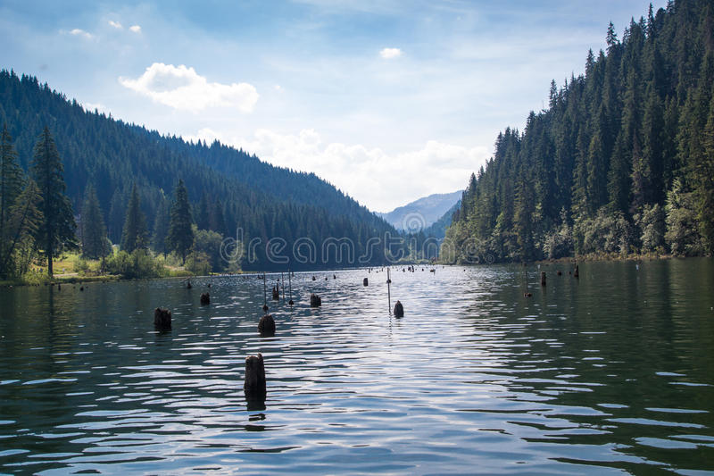 Lago rojo - Lacul Rosu foto de archivo libre de regalías