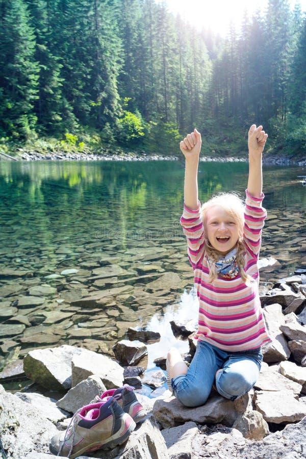 Lago Rosohan mountain imagens de stock royalty free