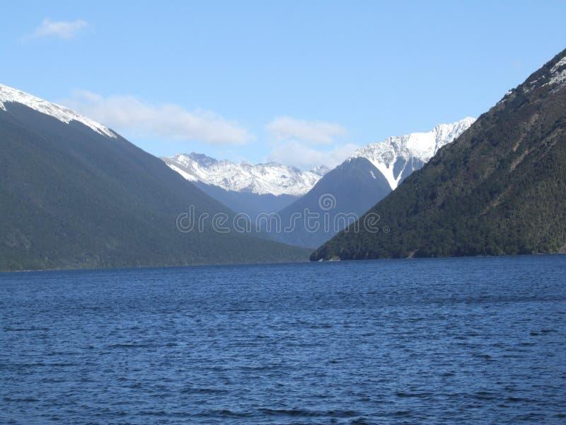Lago Rotoiti in autunno fotografia stock libera da diritti