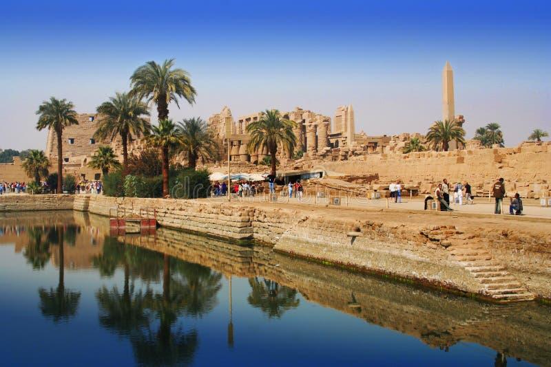 Lago sagrado de Karnak imágenes de archivo libres de regalías