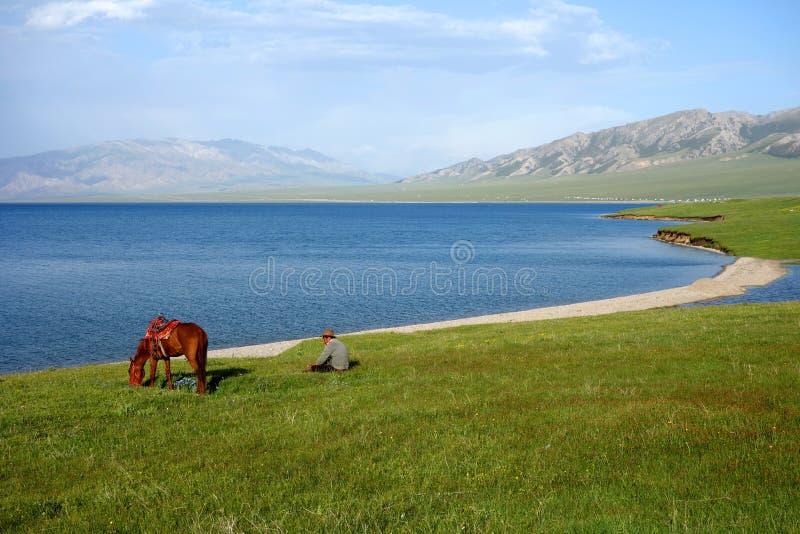 Lago Sailimu imagem de stock