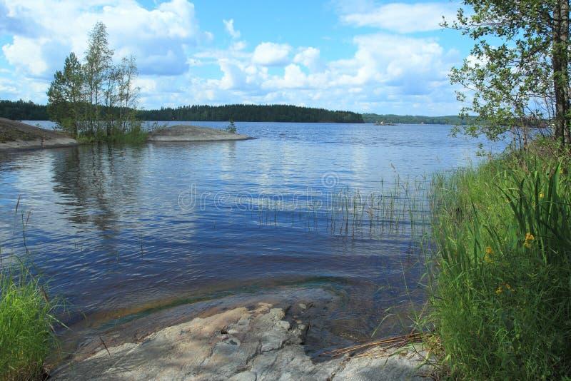 Lago Saimaa en Finlandia imagenes de archivo
