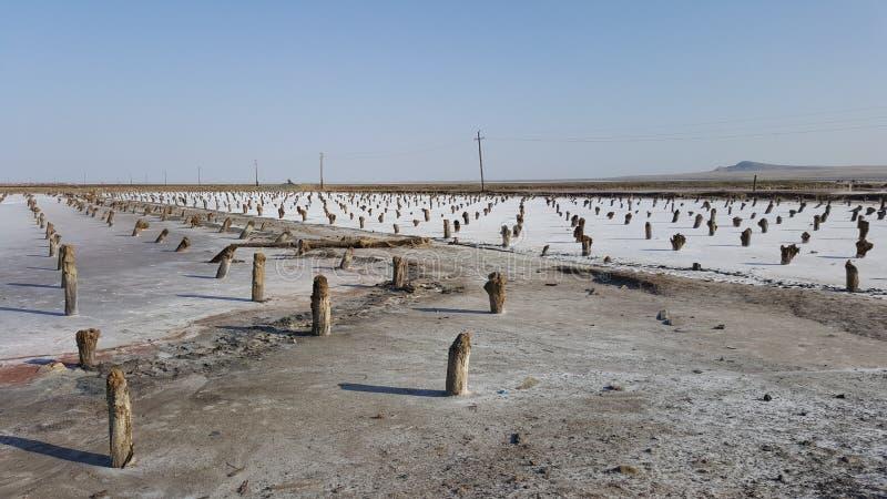Lago salato Baskunchak immagine stock