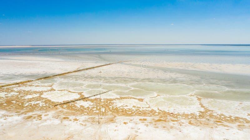Lago salt Baskunchak regi?o de Astrac? Paisagem do russo fotografia de stock royalty free