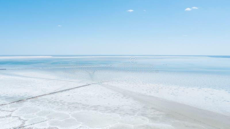 Lago salt Baskunchak regi?o de Astrac? Paisagem do russo imagens de stock royalty free