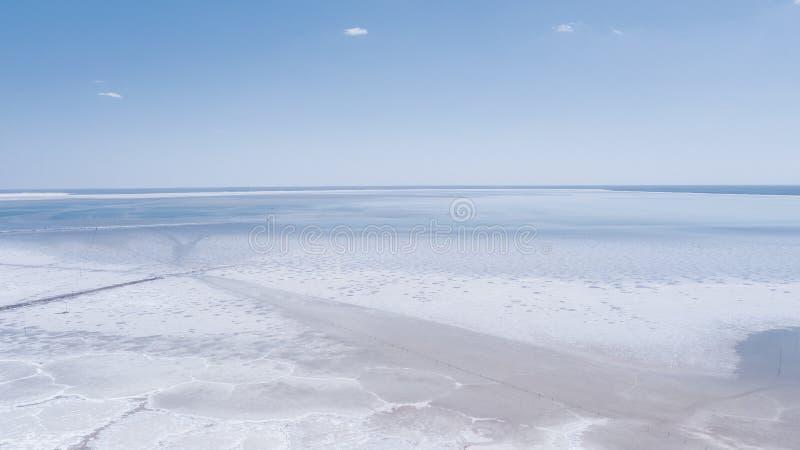 Lago salt Baskunchak regi?o de Astrac? Paisagem do russo fotos de stock