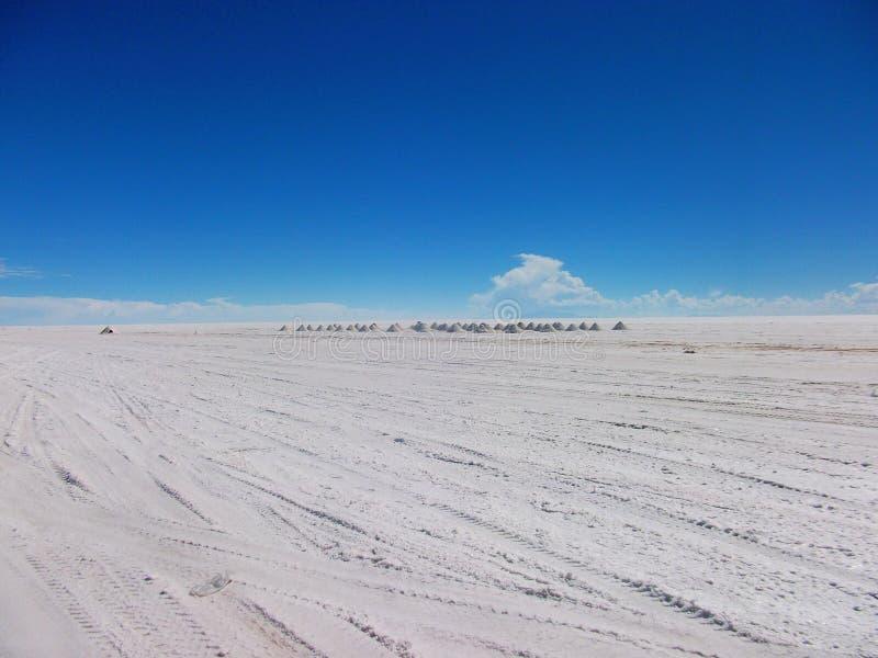 Lago salt in Bolivia Salar de Uyuni fotografia stock libera da diritti