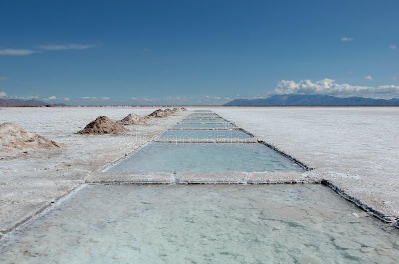 Lago salt cerca de Salta, la Argentina fotos de archivo