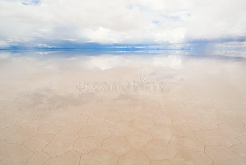 Lago salt en Bolivia fotografía de archivo libre de regalías
