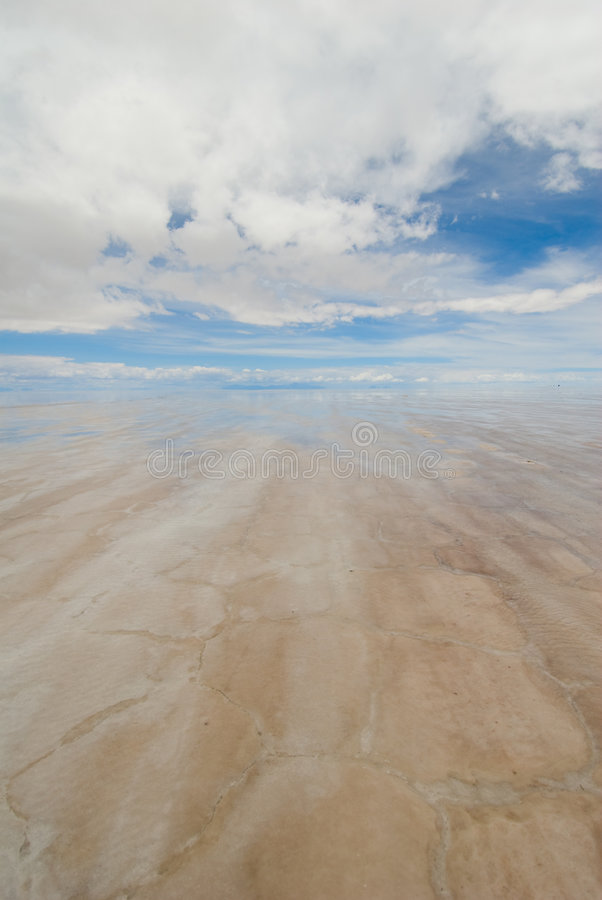Lago salt en Bolivia imagenes de archivo