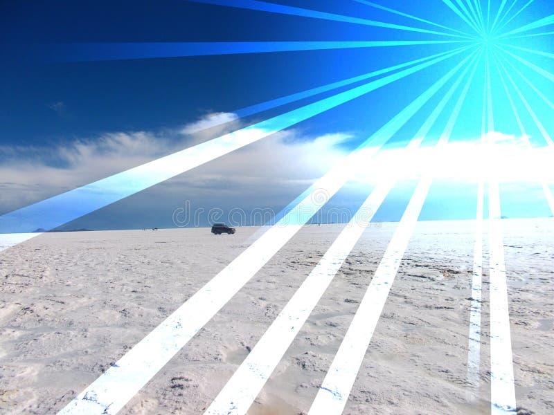 Lago salt en Bolivia Salar de Uyuni foto de archivo