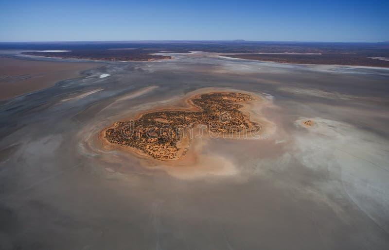 Lago salt, foto aérea imagem de stock