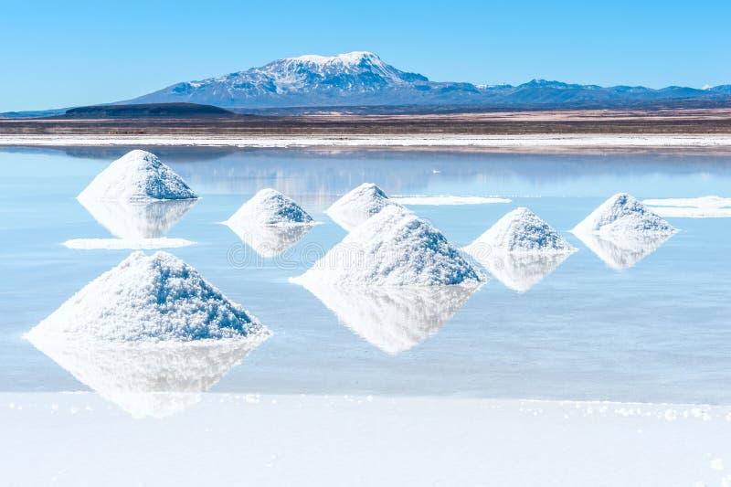 Lago salt Uyuni em Bolívia fotografia de stock