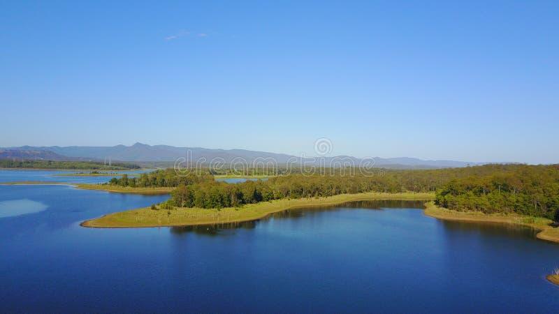 Lago Samsonvale Queensland Austrália fotos de stock royalty free
