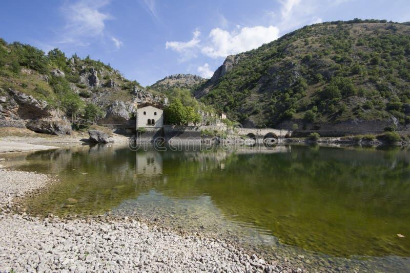 Lago san Domingo foto de archivo