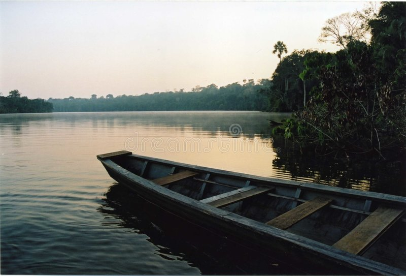 Lago Sandoval, Perú imagen de archivo libre de regalías