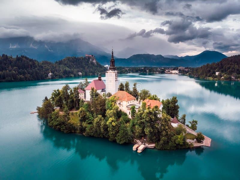 Lago sangrado Eslovenia imagen de archivo