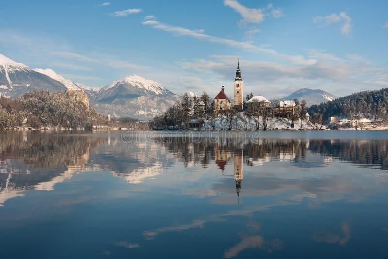 Lago sangrado, Eslovenia fotografía de archivo libre de regalías