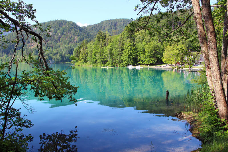 Lago sangrado, Eslovenia fotografía de archivo