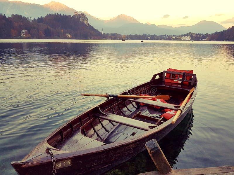 Lago sangrado esloveno foto de stock