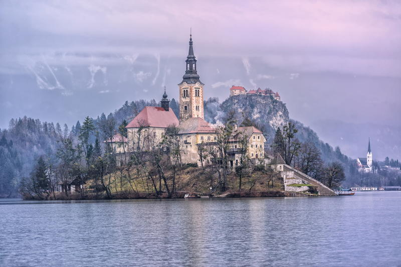 Lago sangrado, Slovenia fotos de stock royalty free