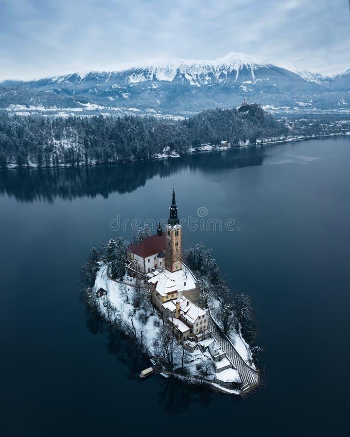 Lago sanguinato fotografia stock libera da diritti