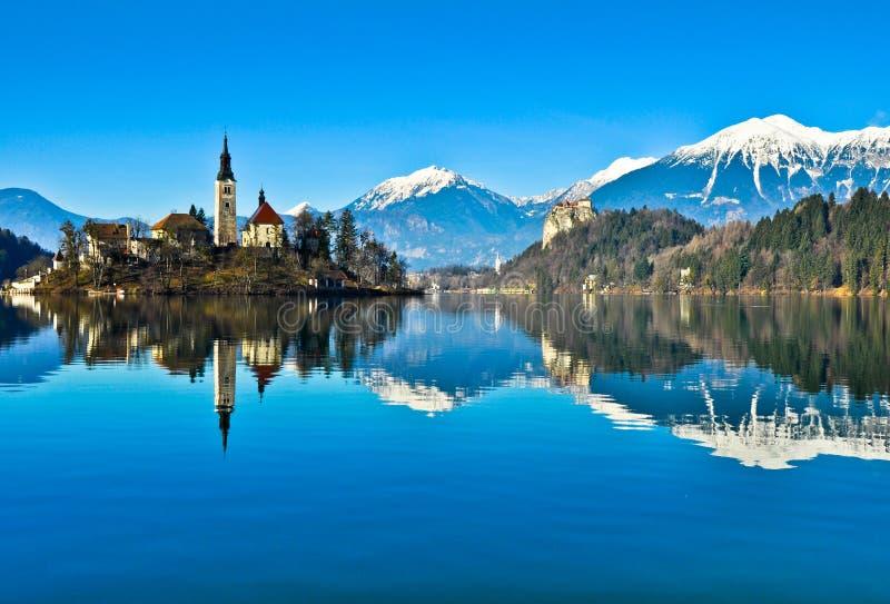 Lago sanguinato fotografie stock