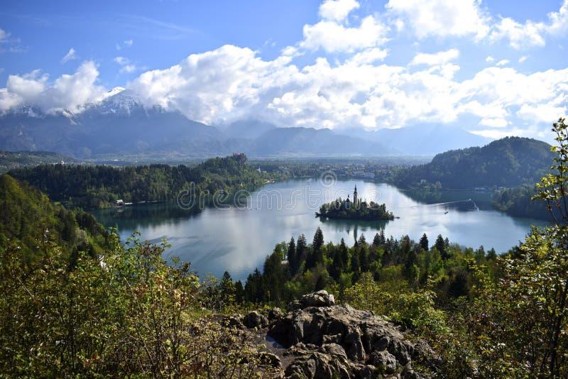 Lago sanguinato da Ojstrica fotografie stock