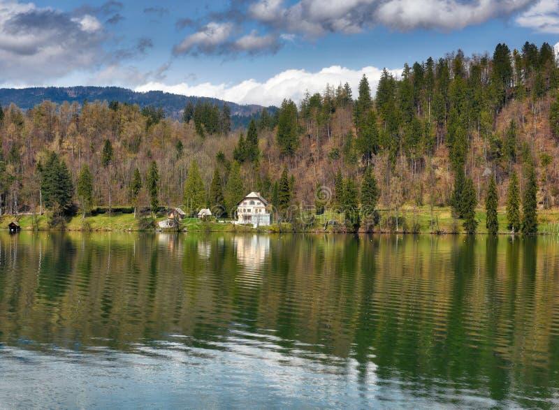 Lago sanguinato, Slovenia fotografie stock