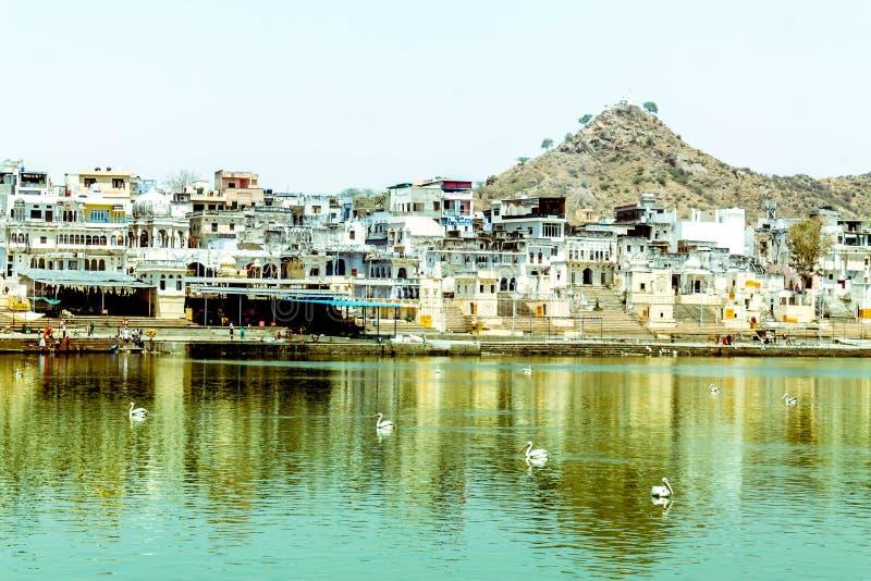 Lago santamente Pushkar foto de stock royalty free