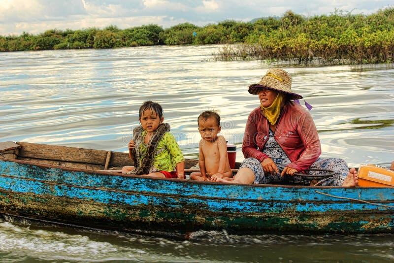 Lago sap de Tonle, Camboya fotografía de archivo libre de regalías