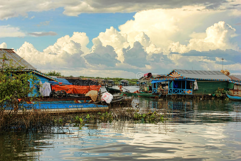 Lago sap di Tonle, Cambogia immagine stock libera da diritti