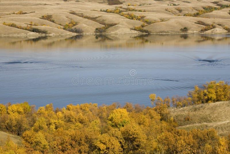 Lago Saskatchewan Diefenbaker immagini stock libere da diritti